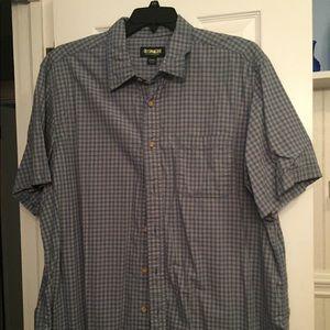 Outdoor Life 2 X short sleeve blue shirt